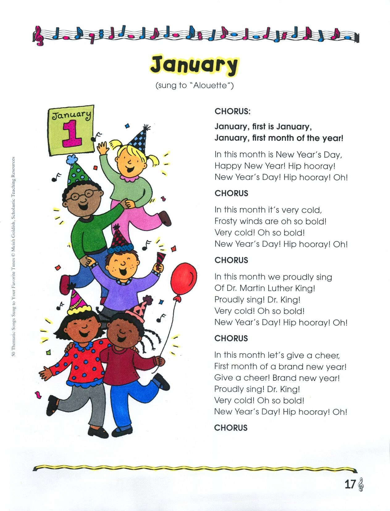 Ring In The New Year With This Irresistible Song Set To A Familiar Tune This Sing Along Activity Is A Perfect Addition To A U Songs Thematic Months In A Year