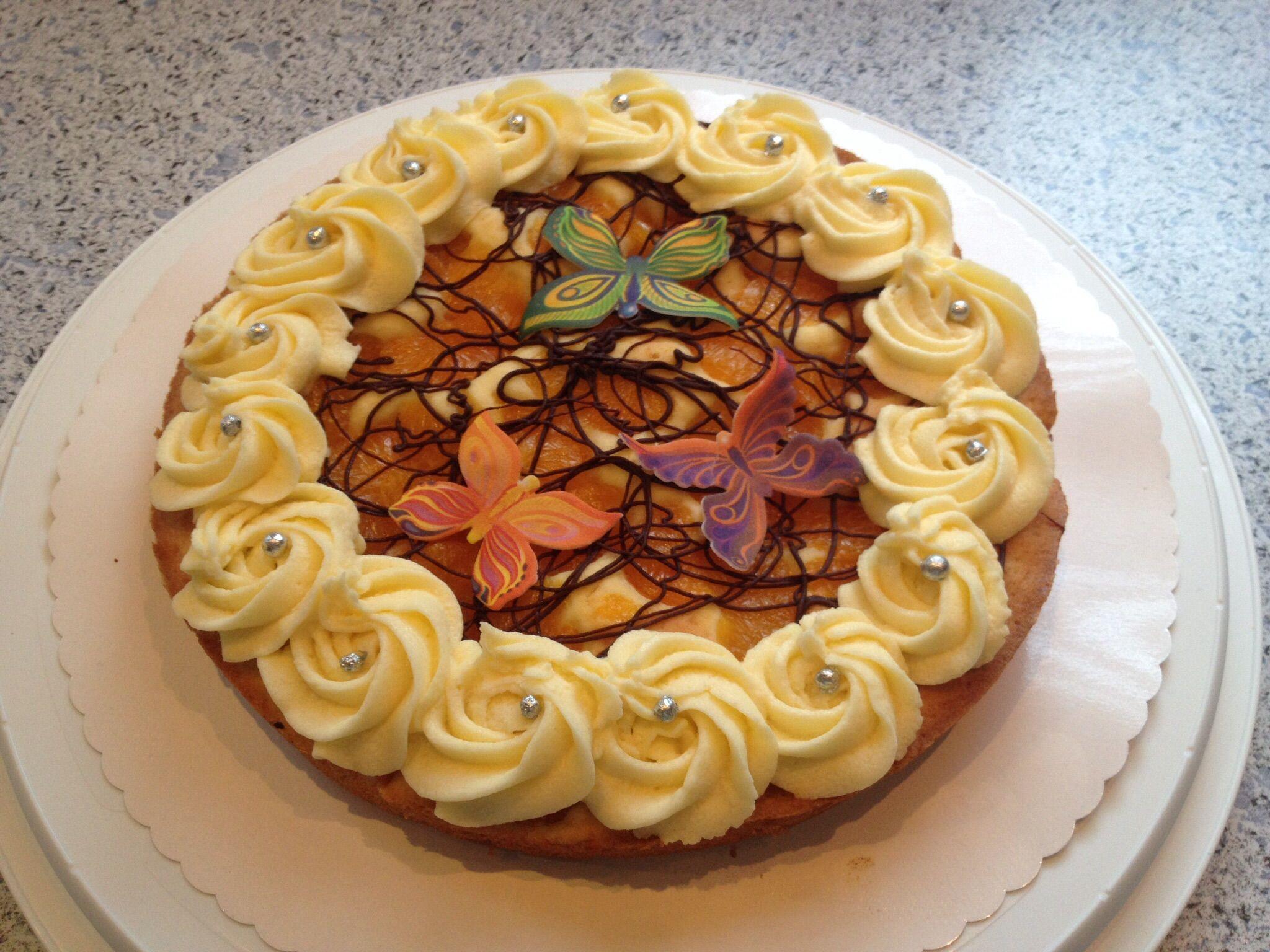 Rührkuchen mit Mandarinen und Buttercreme (glutenfrei)