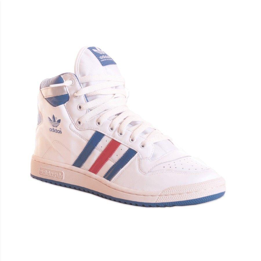 adidas blanche bande bleue