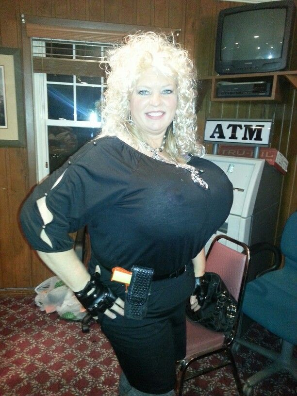 Beth, the Bounty Hunter's wife. Halloween costume for a benefit. It rocked!!