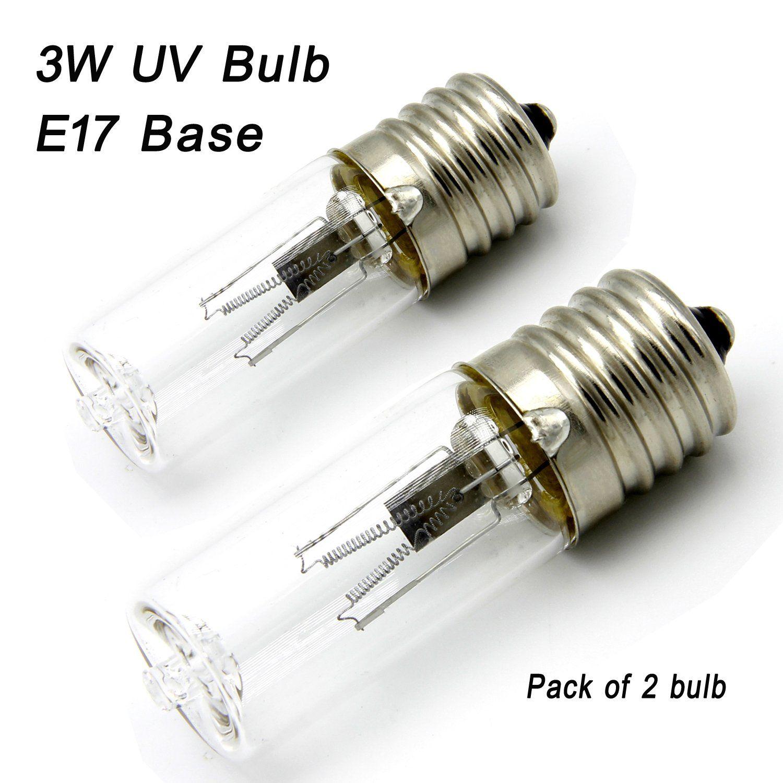 Replacement For 3 Watt Uv Germicidal Light Bulb 3watts Lamp 3w E17 Intermediate For Germguardian Air Sanitizer Gg1000 Gg1100b Gg1100w 2 Light Bulb Bulb Light