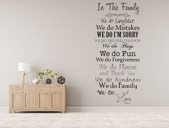 in this family we do vinyl wall decal inspirational custom vinyl