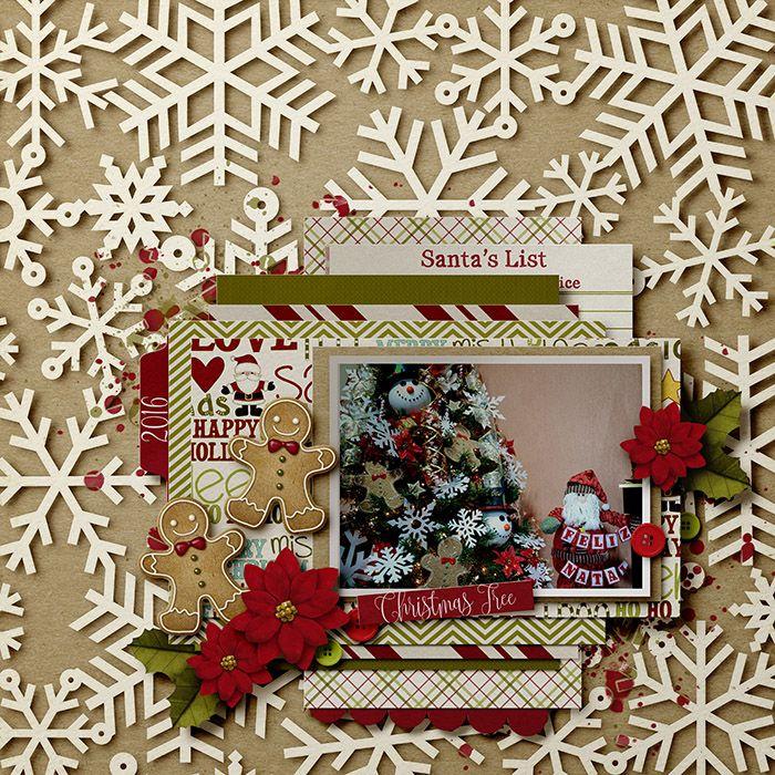 Christmas Tree -Digi Merry Christmas scrapbook voorbeelden kerst