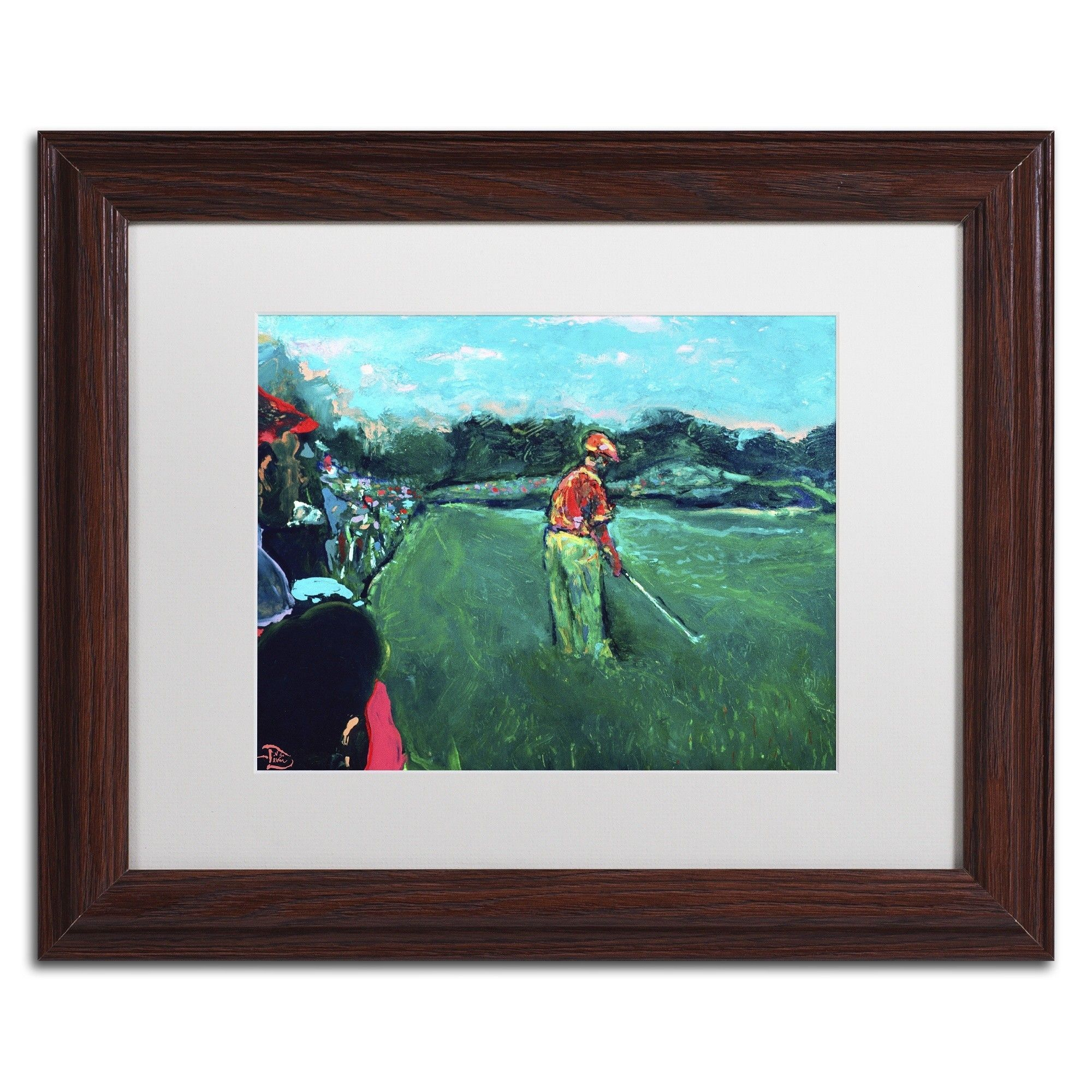God's Game by Lowell S.V. Devin Matted Framed Painting Print