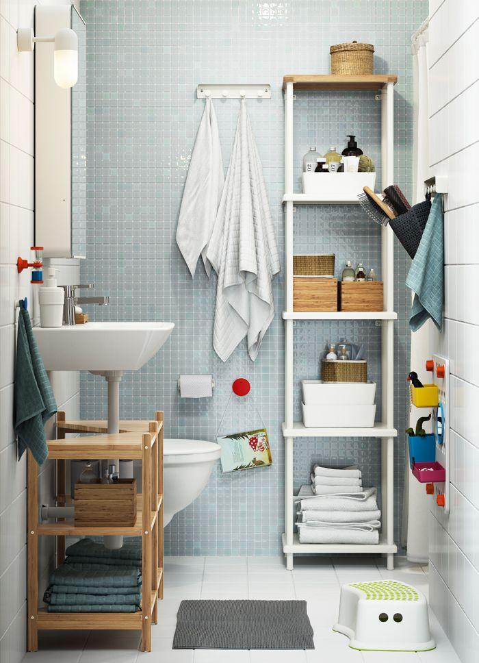 Bagno Con Scaffale A Giorno Alto Bianco Ikea Mobili Bagno