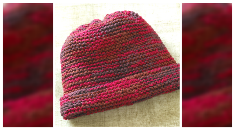 Grandma's Favorite Knit Garter Stitch Hat Pattern | Hat ...