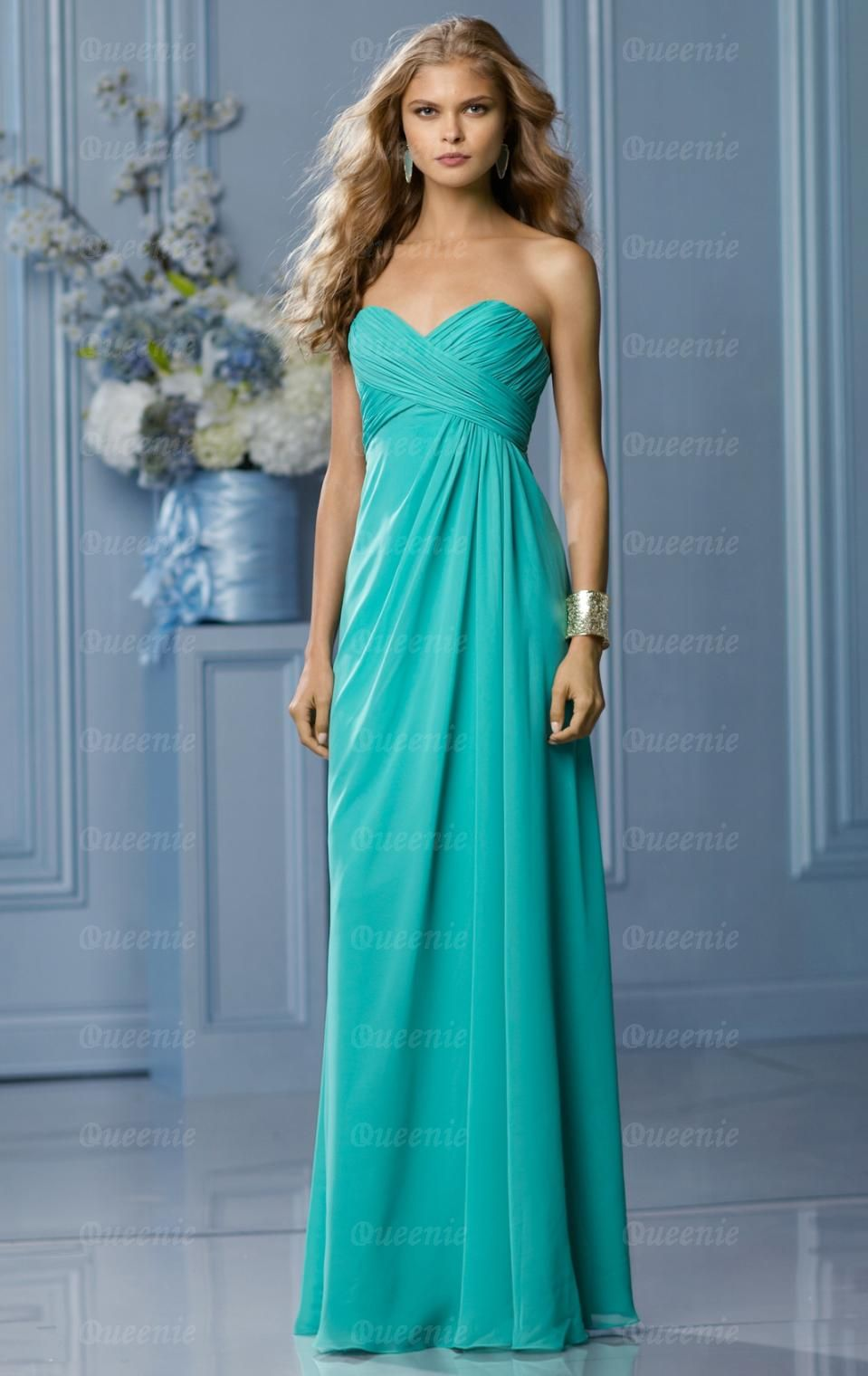 stylish-chiffon-light-turquoise-bridesmaid-dress | Wedding Ideas ...