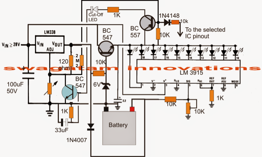 Electronic Circuit Projects 3v 4 5v 6v 9v 12v 24v Automatic Battery Charger With Indicator Circ Schemi Di Circuiti Elettrici E Di Elettronica Autom