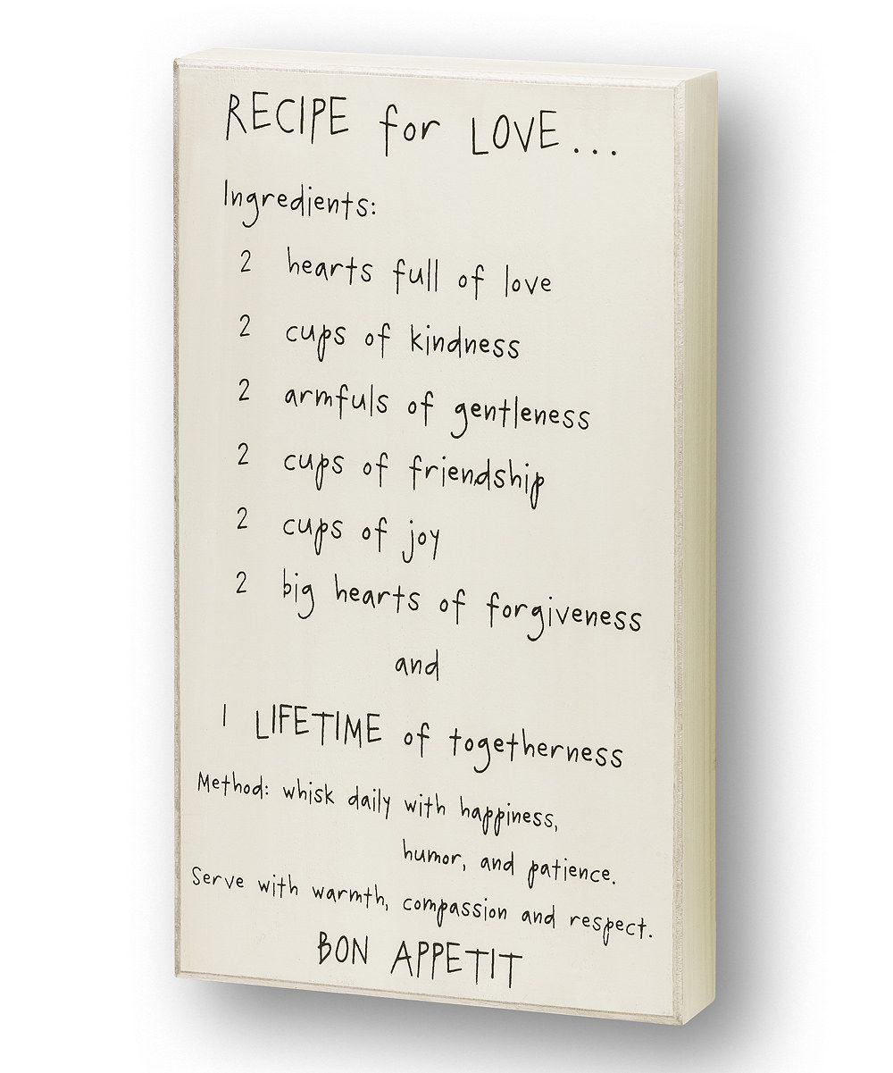 This 'Recipe for Love' Wall Sign by Collins is perfect! #zulilyfinds