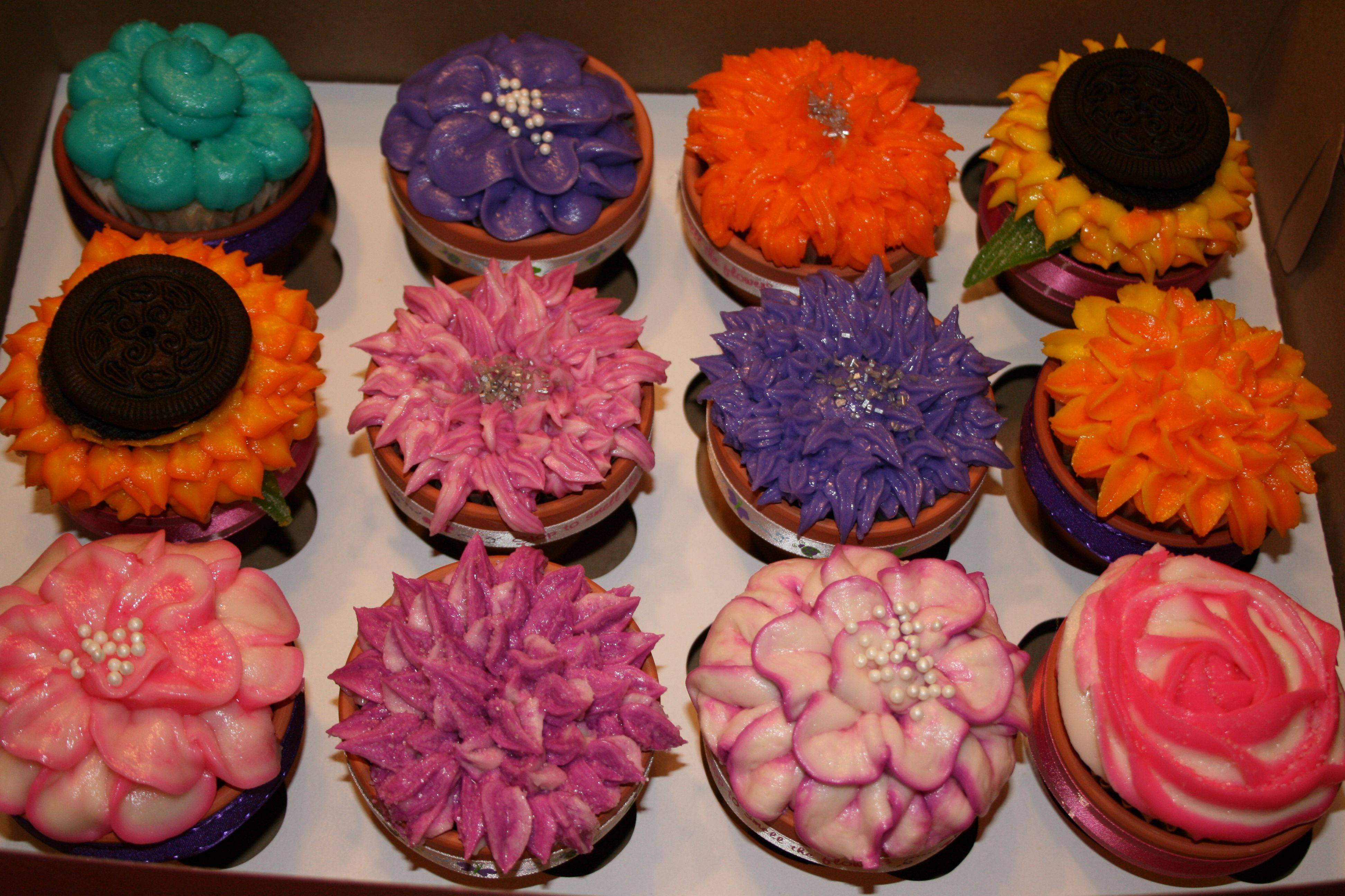 Bouquet of flowers i made for savannah the birthday girls flower bouquet of flowers i made for savannah the birthday girls flower garden all the cupcakes i hand piped and then place in their own flower pot 0 izmirmasajfo