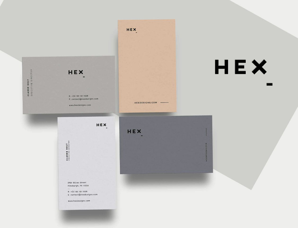 Hex Business Card Template #UniqueBusinessCards | BUSSINES CARD ...