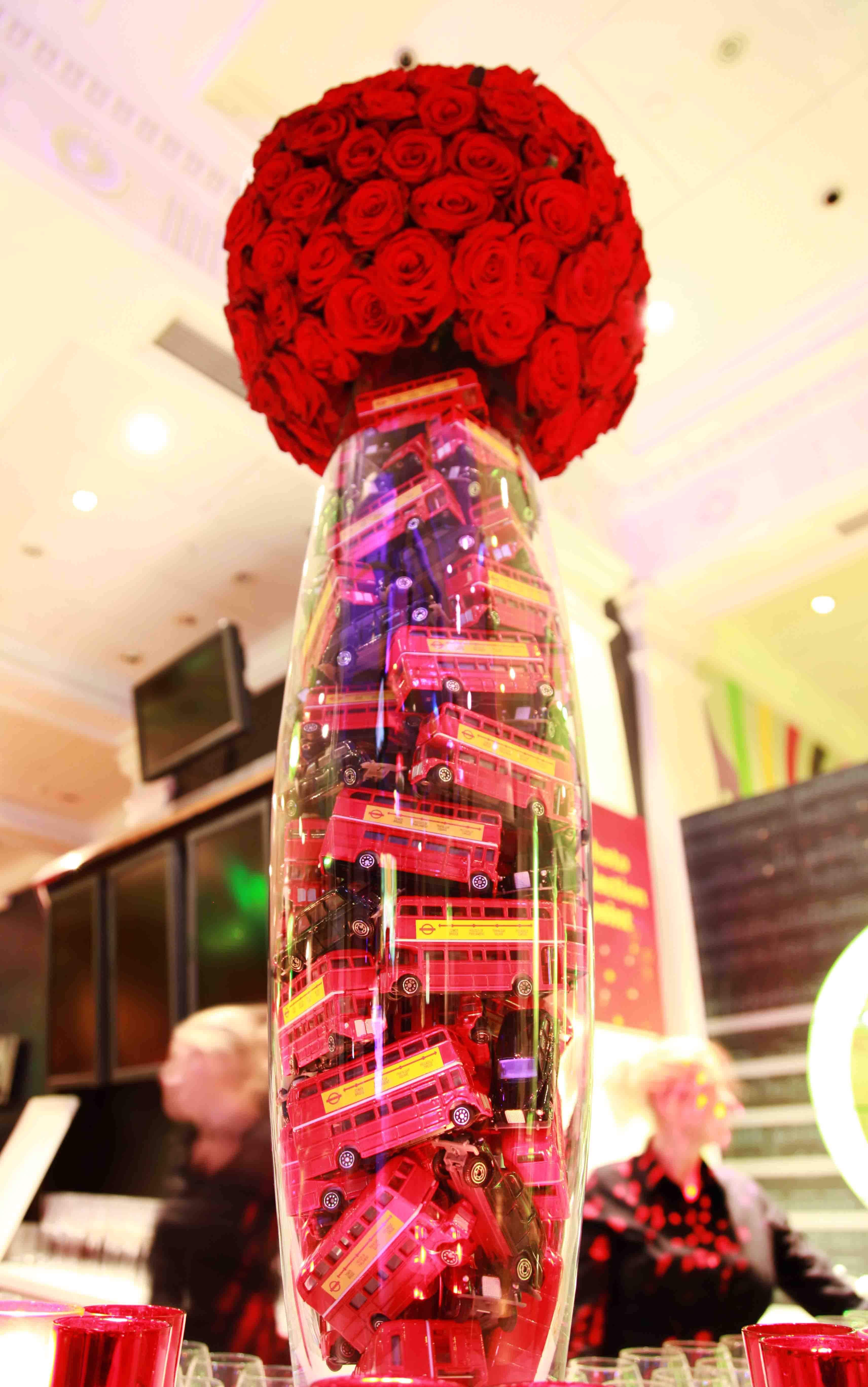 Event Decor London London Themed Floral Arrangement Tables Pinterest Vase
