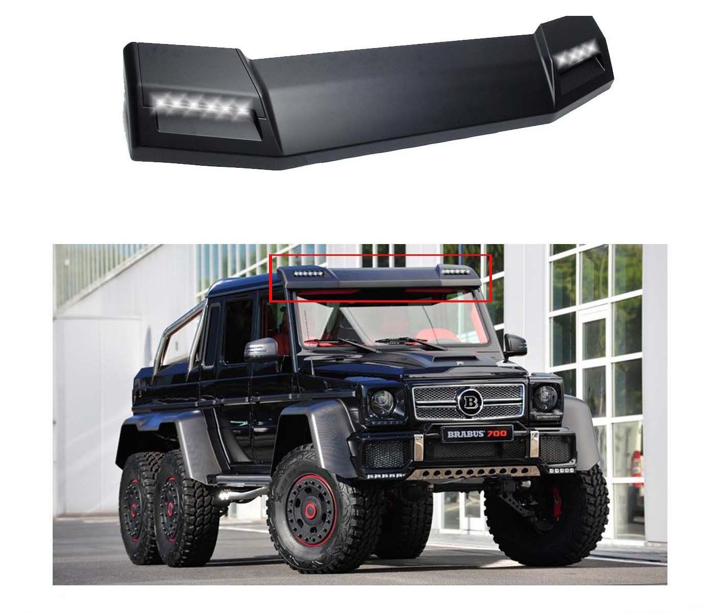 G63 Brabus Style Front Roof Spoiler With Led W463 1990 2017 G500 G55 G550 G63 G Wagon Wagon Mercedes Benz G Class