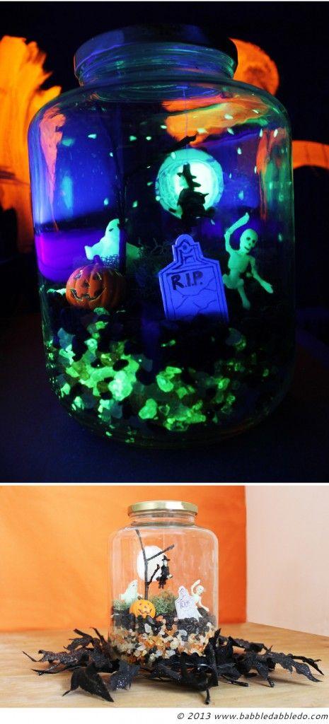 Halloween Crafts Glow in the Dark Terror-arium Pinterest Dark - halloween decorations for kids to make