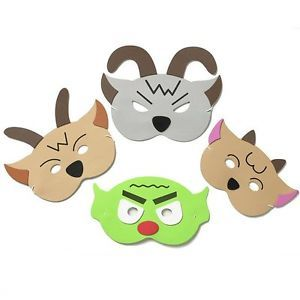 Billy Goats Gruff Story Telling Face Masks Childrens Fairytale Teacher School