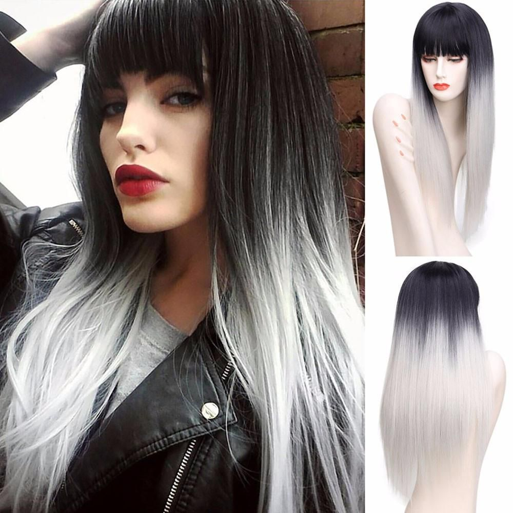 34+ Silver ombre hair with bangs ideas in 2021