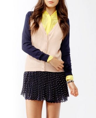 Colorblocked Cardigan...love it with the yellow shirt