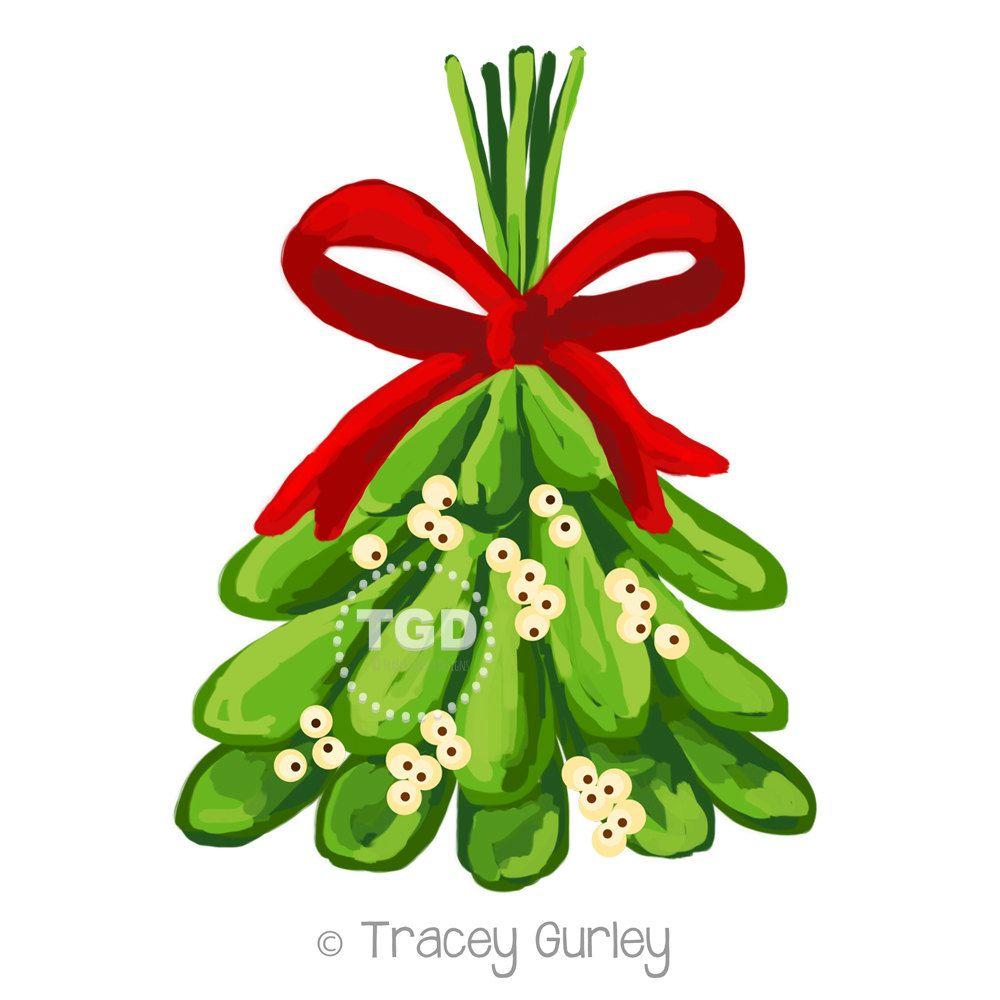 Christmas Clip Art, Christmas Clipart, Christmas digital clipart, Mistletoe Clip Art, holiday clipart, holiday clip art, digital download by TraceyGurleyDesigns on Etsy