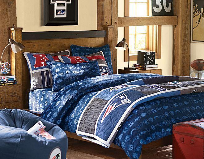 NFL Bedroom | Teen Boy's Room Makeover | Pinterest ...