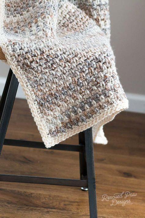 Jane Throw Blanket Pattern - Easy Crochet Blanket | Manta, Ganchillo ...