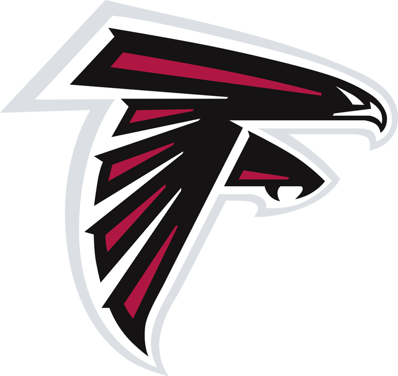The logo for the NFL football team the Atlanta Falcons has an easily ...