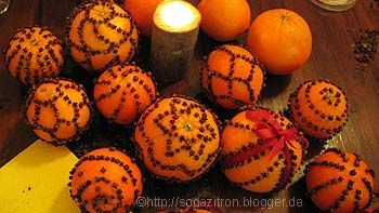 one of my favorite Christmas decorations  clove oranges - Bing Images
