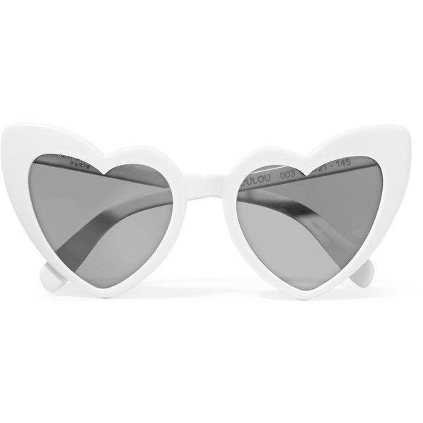 e73711b8a38 Saint Laurent LouLou cat-eye acetate sunglasses featuring polyvore women s  fashion accessories eyewear sunglasses white cateye sunglasses floral  sunglasses ...