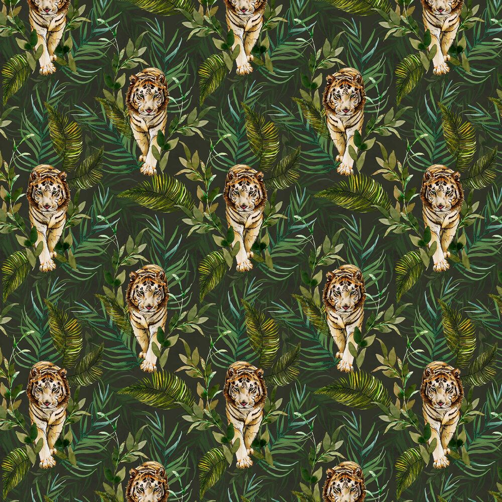 Photo of Tiger Tiger by Graduate Collection – Green – Wallpaper – EG1TIGWALG