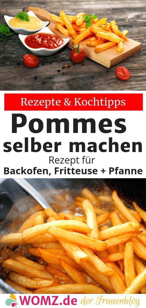 Pommes selber machen: Rezept für Backofen, Fritteuse, Pfanne - WOMZ #pommesselbermachenofen Pommes selber machen ist ganz einfach. In meinem Rezept zeige ich dir die Zubereitung der Kartoffelstreifen sowohl im Backofen, als auch in der Fritteuse und der Pfanne/dem Topf. Selbstgemachte Pommes, ein absolutes Geschmackserlebnis. #pommes #selbermachen #selbstgemacht #backofen #fritteuse #rezept #pommesselbermachenofen Pommes selber machen: Rezept für Backofen, Fritteuse, Pfanne - WOMZ #pommesselbe #pommesselbermachenofen