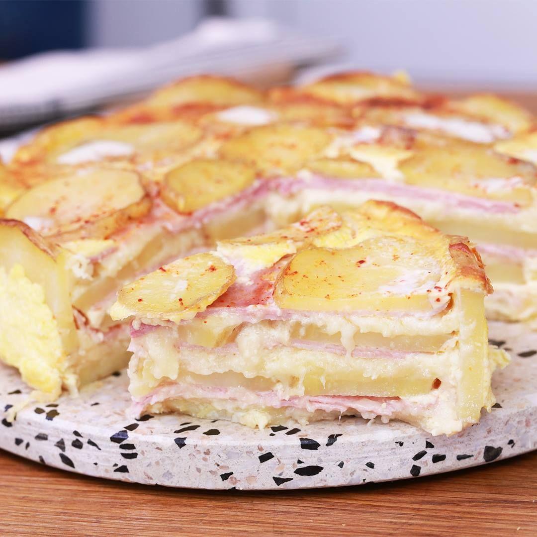 Faites-vous plaisir avec linratable quiche aux pommes de terre et au jambon !