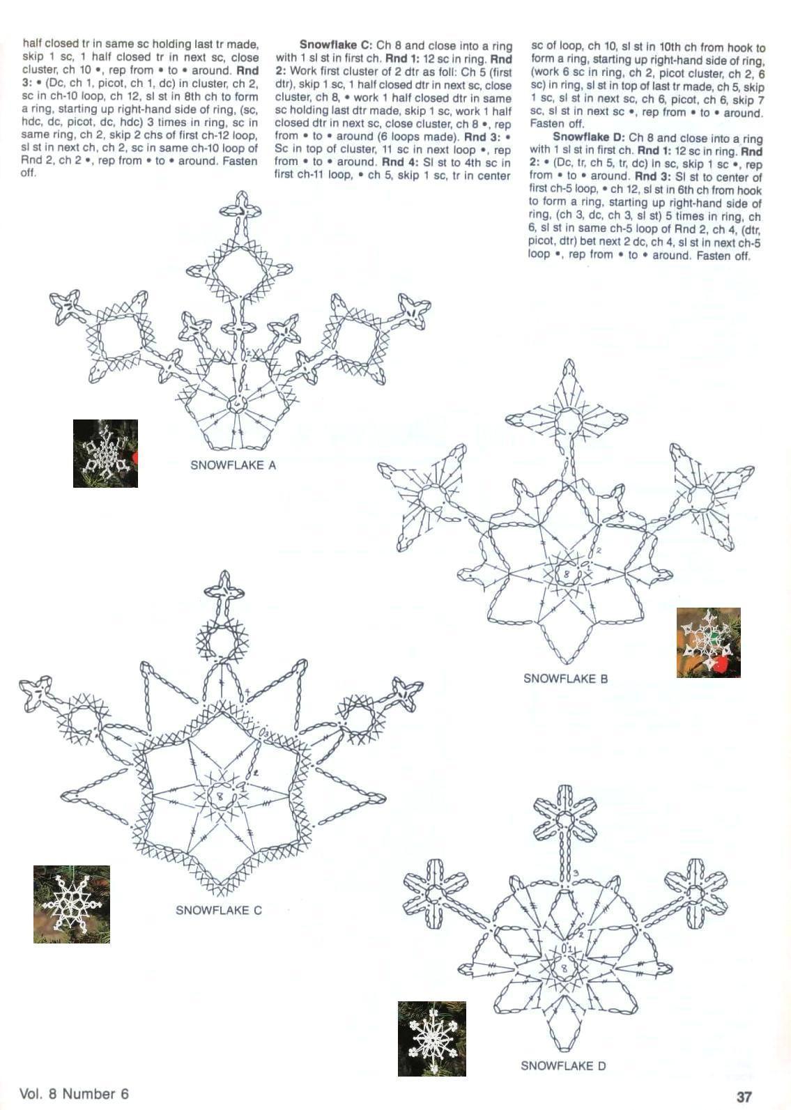Esquemas de copos de nieve | SexyCrochet.COM | Crochet | Pinterest ...
