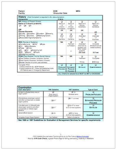 E\M Coding Audit Form Pediatric Nursing Pinterest - audit form templates