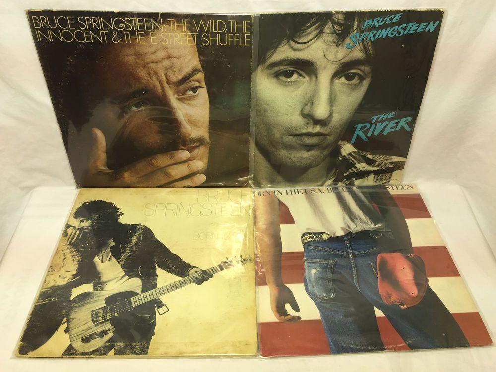 Bruce Springsteen Original Vinyl Record Lp Lot Born To Run The Wild Innocent Vinyl Records Vinyl Bruce Springsteen