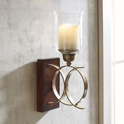 Intertwining Circles Candle Holder Wall Sconce Pier 1 Imports Batterywallsconce