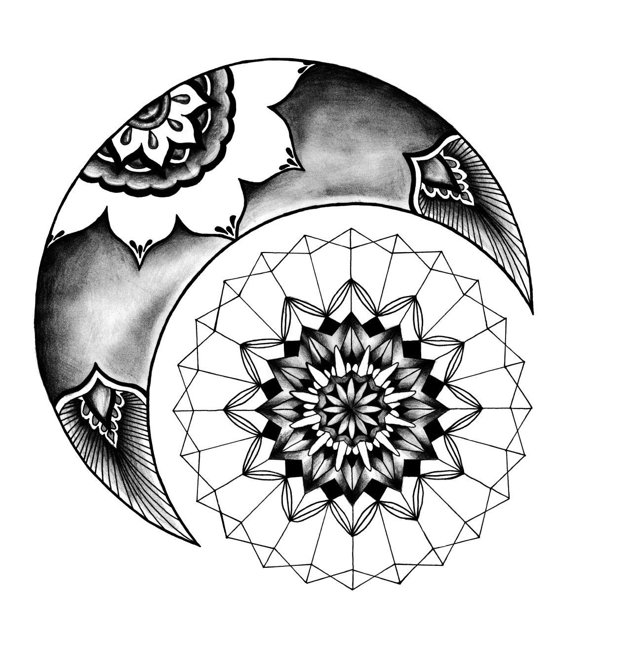 Dear Art Sun and moon mandala, Moon mandala, Mandala tattoo