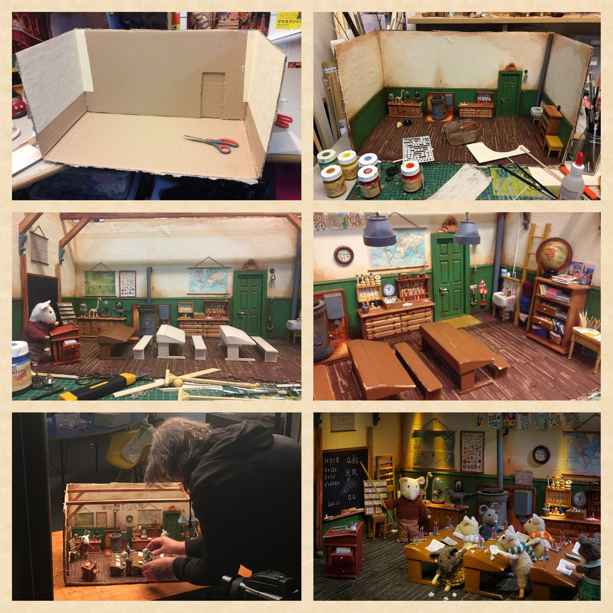 Miniature Classroom Diy  The Mouse Mansion