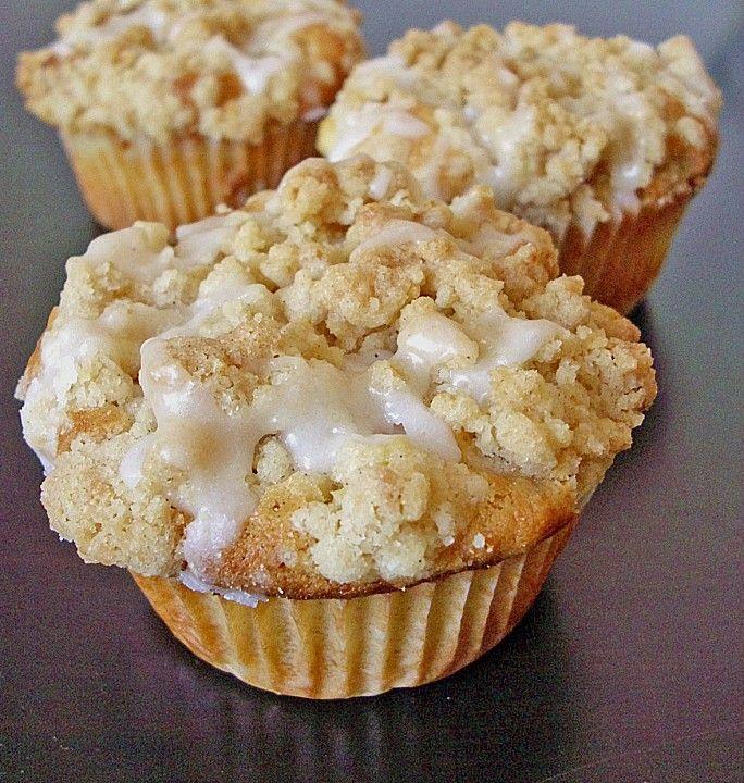 Marzipan - Apfel - Muffins mit Zimtstreuseln rezepte Pinterest - chefkoch käsekuchen muffins