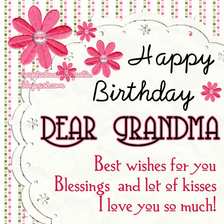 Happy Birthday Dear Grandma Happy Birthday Happy Birthday Wishes