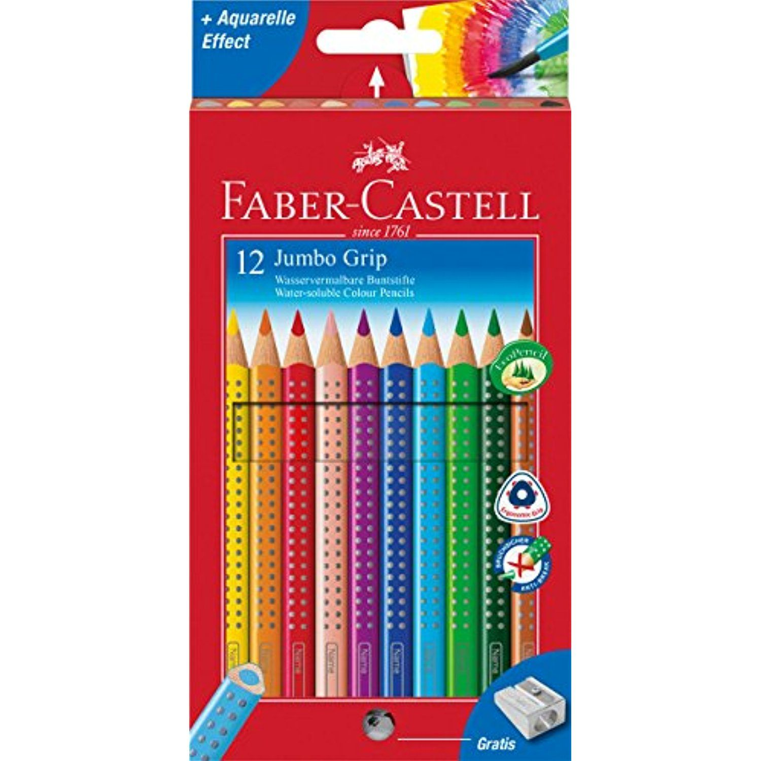 Faber Castell 12 Jumbo Grip Colored Pencils 12 Pk Learn More By