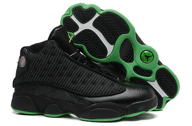 50d7da7ae15449 green black shoe nike air jordan retro 13 xiii for men no tax online ...