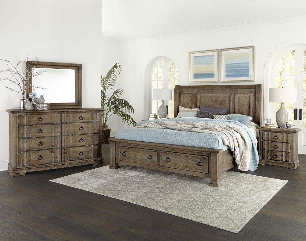 Best Vaughan Bassett Rustic Hills Solid Wood Bedroom Collection 400 x 300