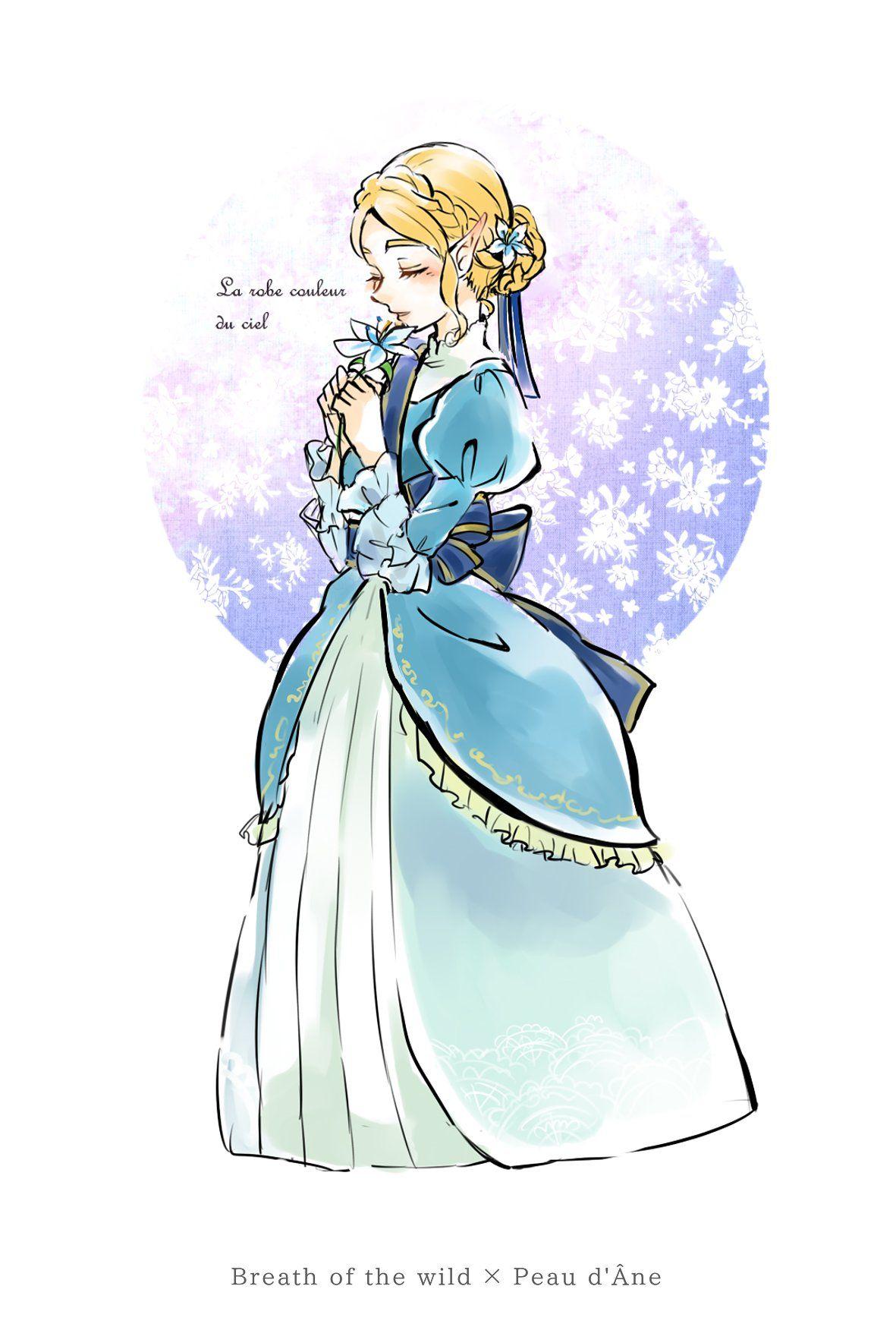 Princess Zelda Dress By S Mino930 Breathofthewild Legend Of Zelda Legend Of Zelda Breath Zelda Art