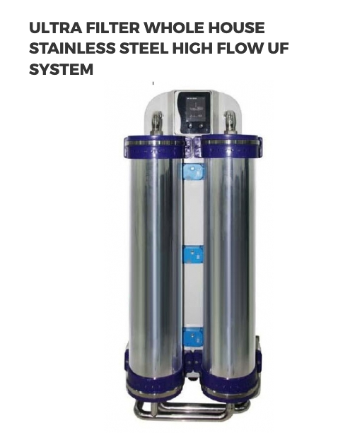 Ultra Filter Whole House Stainless Steel High Flow Uf System Water Treatment System Pressure Tanks Turbidity