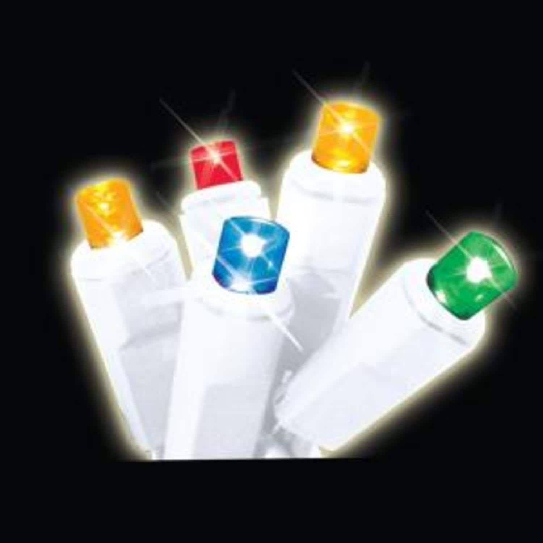 Star Set of 35 Multi-Color LED Wide Angle Icicle Christmas Lights ...