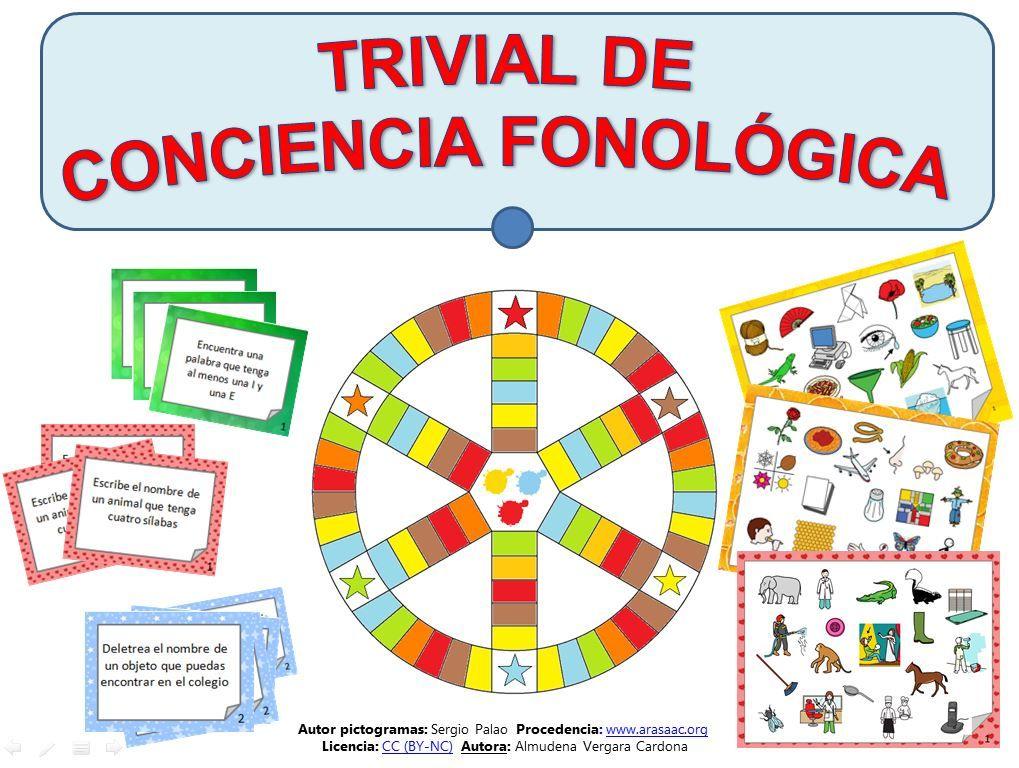 Juego Trivial Fonológico Pictogramas Arasaac Material Didactico Primaria Conciencia Fonológica Lenguaje En Niños