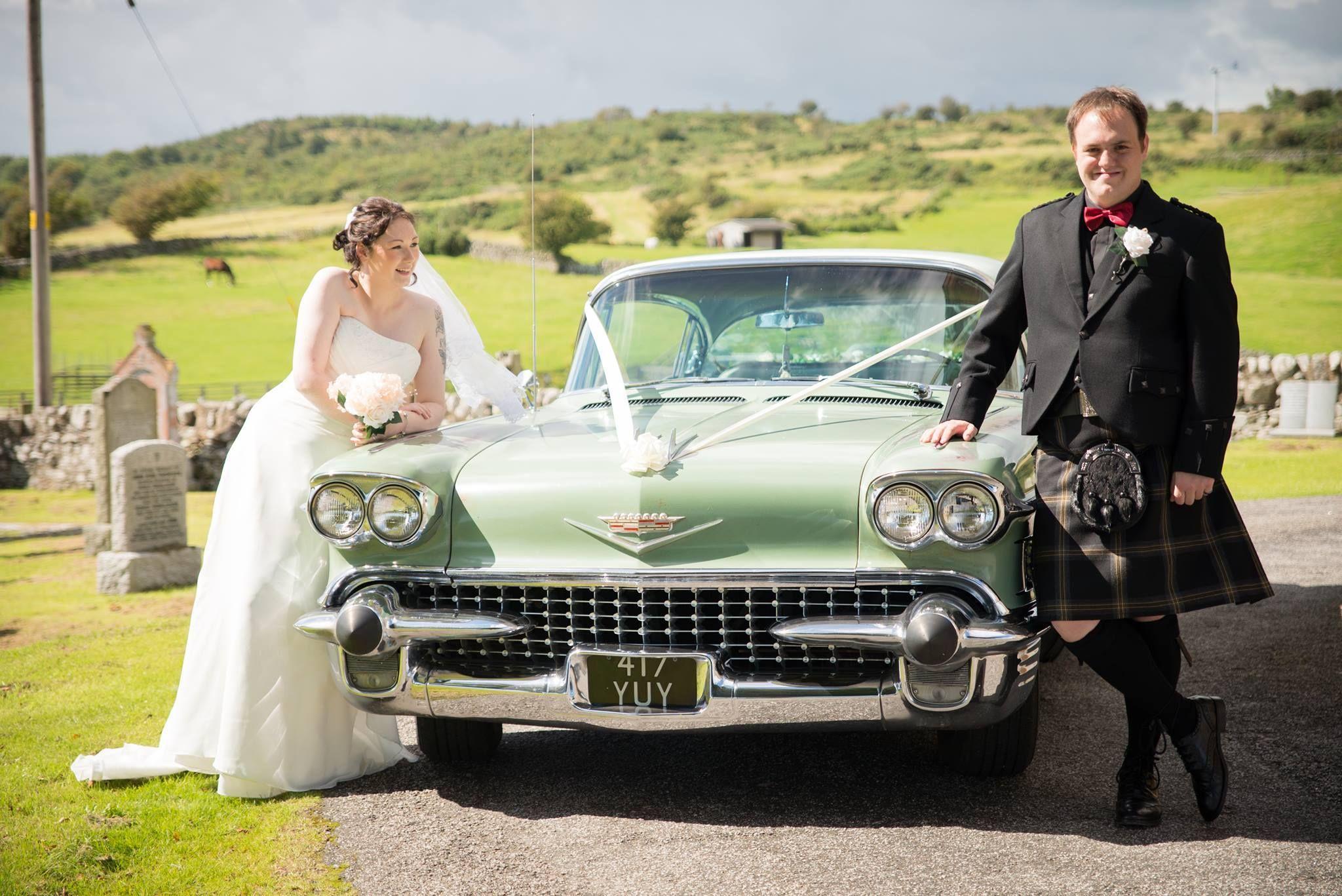 1958 Classic American Wedding car