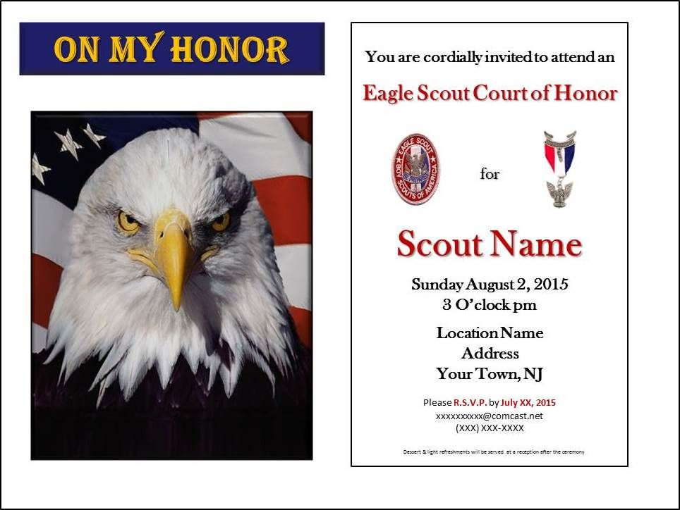Eagle Scout Invitations Templates Free Invitation Template Eagle Scout Birthday Invitation Card Template