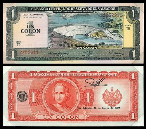 Dinero Salvadoreño Guanaco El Salvador Monedas Historia Septiembre Infancia