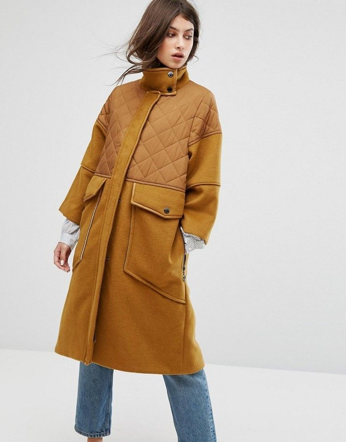big discount nice cheap quality Max & Co Max&Co Desideri Quilted Panel Coat | Latest fashion ...