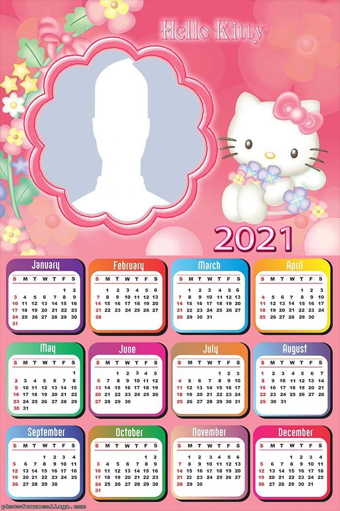Printable Hello Kitty Calendar 2021